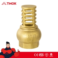 China Dn15 Manual 2 Inch Brass Foot Valve For Water Pumps on sale