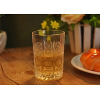 Quality Sun Flower Design Water Glass Tumbler for Juice , small whiskey glass wholesale