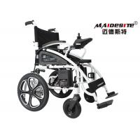 Quality Outdoor Electric Folding Wheelchair For Handicapped Steel Material DLY-6009 wholesale
