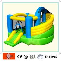 Quality Durable Inflatable Jumping Castle Small Soccer With Swimming Pool wholesale
