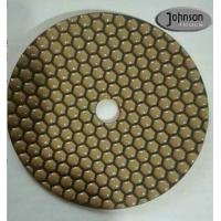 Quality 7 Inch Honeycomb Dry Diamond Polishing Pads For Stone Surface Super Soft Type wholesale