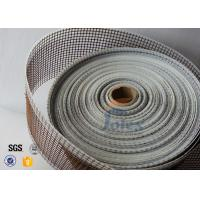 Quality Black / Brown PTFE Coated Fiberglass Fabric Teflon Open Mesh Conveyor Belt wholesale