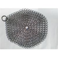 Quality 7 Inch Stainless Steel Chainmail Scrubber For Cookware Cleaning , Round Shape wholesale