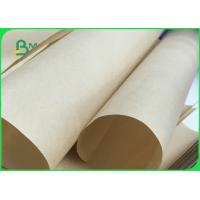 China Wrapping Food Safe MG Brown Kraft Paper Roll of 24grams 32grams FDA FSC ISO on sale
