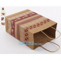 China LASER laminated carrier Luxury paper hand bag,Kraft Paper Bag with Handle for Gift Wholesale,Matt Gold Shopping Retail P on sale
