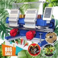 China Cheapest industrial embroidery machine HO1502H 400*500mm 2 head embroidery machine cap t-shirt flat  machine embroidery on sale