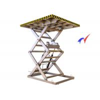 Quality Skidproof Workshops Fixed Scissor Lift 5000 Kg Load With 0.75 - 7.5Kw Motor Power wholesale