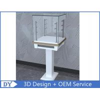 Quality 3D Design Modern Wooden Tempered Glass Jewelry Display Case For Shopping Mall wholesale