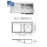 Quality Topmount Stainless Steel Sink with Drainboard wholesale