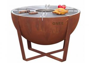 China Pre Weathered Commercial Party Charcoal BBQ Grill 800mm Width on sale