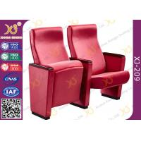 China Full Upholstered Fabric Cover Auditorium Chairs / Seating With Hidden Fixed Leg on sale