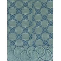 Cheap Turquoise Wedding Nigerian Lace Fabrics , Indian 100% cotton for sale