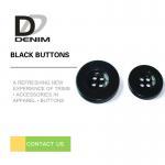 Quality Bulk Flat Black Sewing Buttons • 4 holes • Plaid blazer • Clothing Accessories wholesale