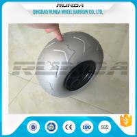 Quality 9 Inch Pneumatic Rubber Wheels PP Rim , Balloon Hand Truck Wheels Without Bearing wholesale