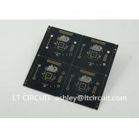 Cheap Black Solder Multilayer Printed Circuit Board Gold Plating Pannelized Fiducial for sale