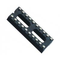 Quality Black color  IC Socket 2*10P 180° H=3.0 Round female Header 7.62 with center bar ROHS wholesale