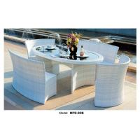 China PE rattan dining table and chair office table and chair price on sale