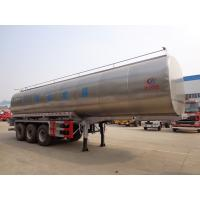 Quality 40t Fresh Milk Delivery Tanks Trucks And Trailers 3 Axle Stainless Steel Milk Tank Truck wholesale