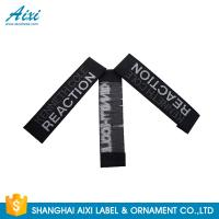 Quality Good Feeling - Touch Custom Printed Clothing Labels , Soft Woven Garment Labels wholesale