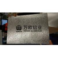 Quality Flat Clean Surface Embossed Aluminum Sheet / Embossed Aluminum Plate For Air - Conditioning wholesale