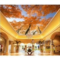 Quality Maple Leaves Bamboo Fiber Integrated Ceiling System For Hotel Room Decoration wholesale