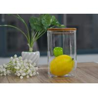 Quality Food storage and refresh borosilicate glass safe jar with cork lid wholesale