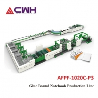 China Fully Automatic  Notebook Making Machine Cold Glue Taped Notebook Production Line on sale
