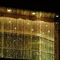 China Flat emitting 220v fairy led outdoor christmas lights curtain CE ROHS approval on sale