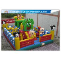 Quality Kids Inflatable Amusement Park Equipment , Inflatable Fun City For Toddlers wholesale