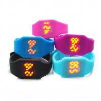 Quality Waterproof Silicone Digital Led Watch , Electronic Movement Square Unisex Watches wholesale