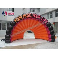 Cheap Free Shipping Cost Inflatable Air Roof Shell Shape Cover Stage For Music for sale
