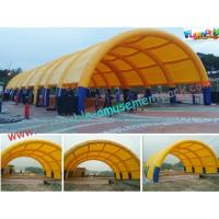 Quality Waterproof Air Tight Inflatable Party Tent For Wedding Exhibition Yellow wholesale