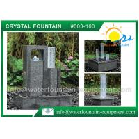 Quality Decoration Feng Shui Garden Fountain Granite Sculpture With Glass Column wholesale