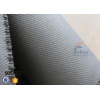 Quality Home Fire Safety Blanket 1600g 1.3mm Grey Silicone Coated Fiberglass Fabric wholesale
