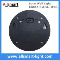 2 LED Round Solar Fence Sensor Light Wall Mount Solar Landscaping Wall Lamp Solar Powered Security Lighting