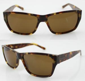 Quality Brown Polarized Acetate Frame Sunglasses , Custom Sun Glasses wholesale