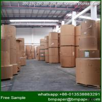 China Grade AAA 280gsm C1S Duplex Paper Board With Grey Back on sale