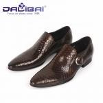 Quality Genuine Leather Dress Shoes Mens Dress Shoes Buckle Strap Walking Dress Shoes wholesale