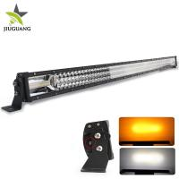 Quality 52 inch Aluminium 783w Car Driving 3 Row 12v jeep Led light Bar strobe warning funtion wholesale