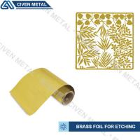 Quality Rolled Brass Foil Roll For Etching In A Wide Range Of Thicknesses And Widths wholesale