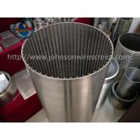 China Rod Based Tubular Wire Wrapped Screen For Food Processors Stainless Steel Material on sale