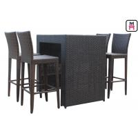 China Counter Height Patio SetOutdoor Restaurant Tables With Waterproof Patio Bar Chairs on sale