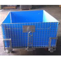 Buy cheap 4 Side Bottom Plastic Board Steel Containers For Semi - Finished Cargo Protection product