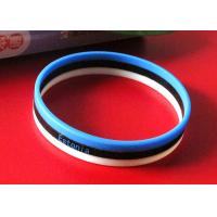 Quality 3 Strips Football Fans Custom Silicone Rubber Wristbands Easy To Carry wholesale