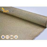 Quality Yellow Flame / Spark Resistant Fire Fiberglass Welding Blanket Roll Fabric Vermiculite Coated wholesale