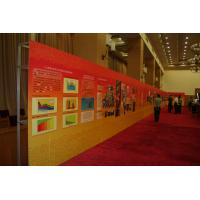 Quality Portable self adhesive PP paper pop up exhibit display banner stands for indoor wholesale