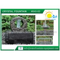 Quality Decorative Feng Shui Cast Stone Garden Fountains With Crystal Glass Column wholesale