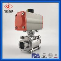 Quality Anti Rust Pneumatic Operated Ball Valve PTFE  High Purity Encapsulated wholesale