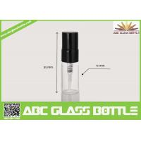 Cheap Hot Sale Mini Black Pump Cover Glass Bottle 5ml Perfume Spray Clear Bottle for sale