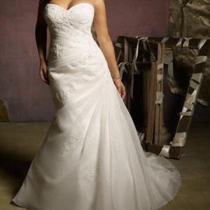 Quality 2012 New Sweetheart A-line Organza Wedding Dress wholesale